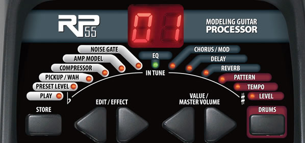 Digitech RP55 Modelling Guitar Processor (Multi-Effects Pedal) Review