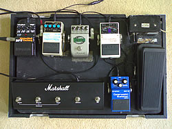 Simon Wood's Pedalboard