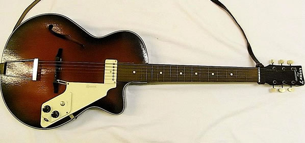 My First Guitar: Egmond Lucky 7 Semi-Acoustic