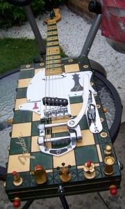 Chessboard guitar