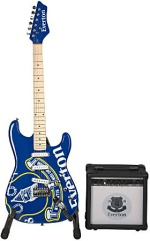 Everton FC Electric Guitar and amplifier