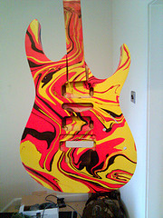Guitar Body Paint Swirl - TheSwirling.com