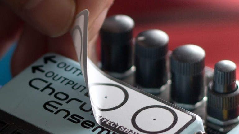 EffectsBay.com announce the Pedal Label System