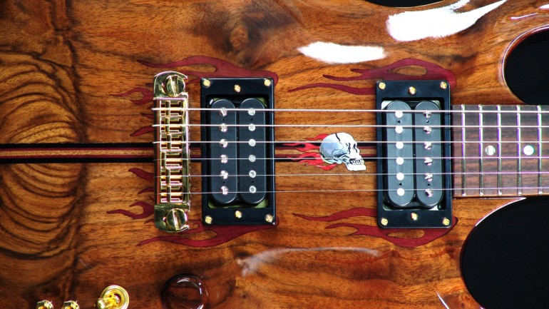 Virgil Guitars Create Elaborate Custom Made Guitars