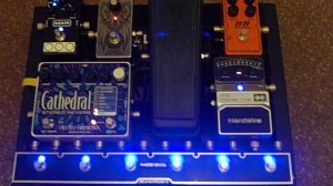 Guitar Jar pedalboard using the GigRig Quartermaster 6