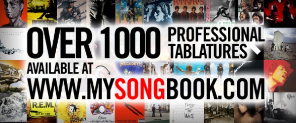 Over 1000 Professional Tabulatures available at MySongBook.com